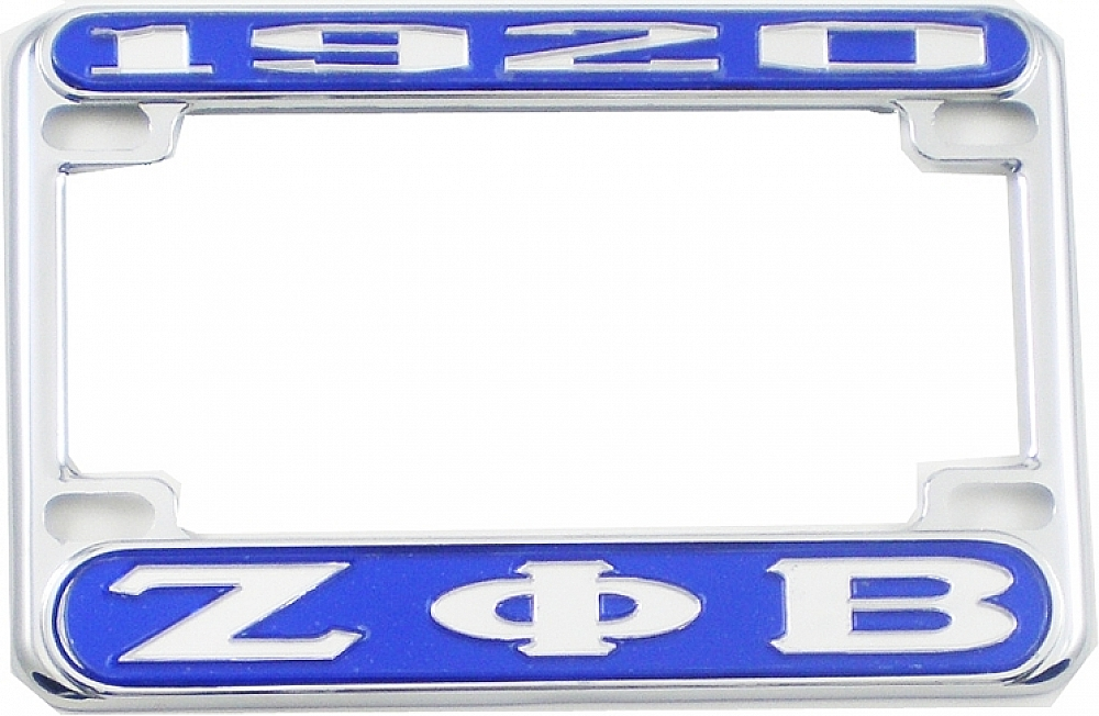 Zeta Phi Beta 1920 Motorcycle License Plate Frame | eBay