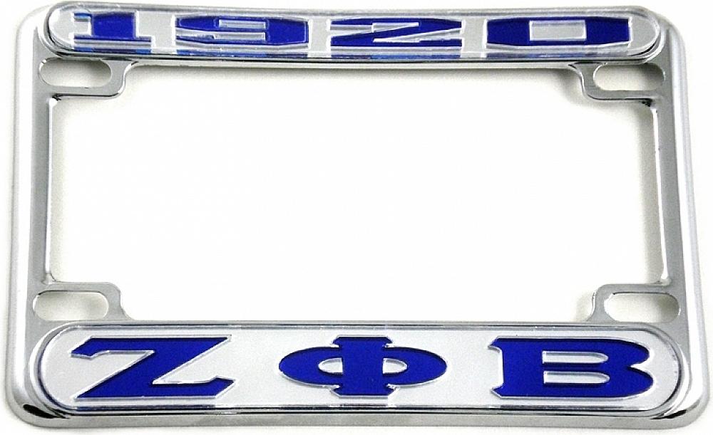 Zeta Phi Beta 1920 Motorcycle License Plate Frame   eBay