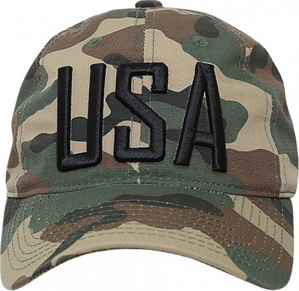 RapDom USA Text Relaxed Ripstop Mens Cap