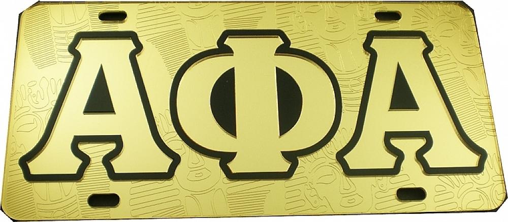 Alpha Phi Alpha Ghost Back Sphinx Head Car Tag License Plate Ebay