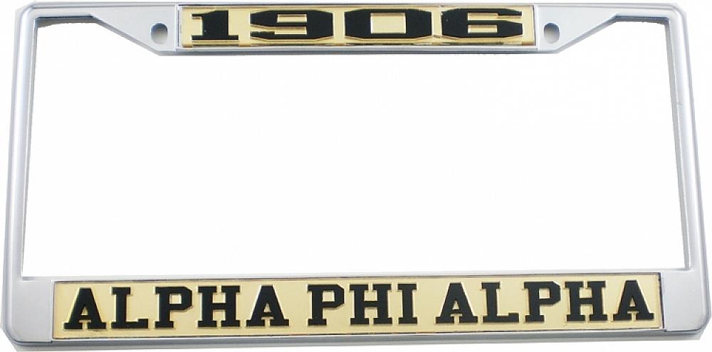 Alpha Phi Alpha 1906 License Plate Frame | eBay